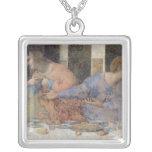 The Last Supper, 1495-97 2 Square Pendant Necklace