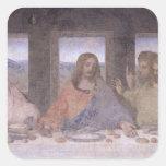 The Last Supper, 1495-97 2 Square Sticker