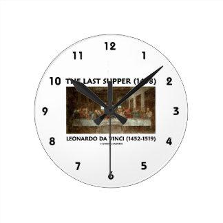 The Last Supper (1498) by Leonardo da Vinci Round Clock