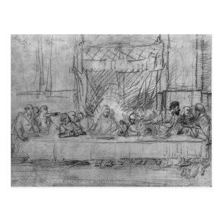 The Last Supper, after fresco by Leonardo da Postcard