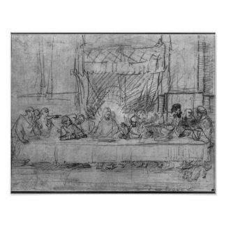 The Last Supper, after fresco by Leonardo da Print