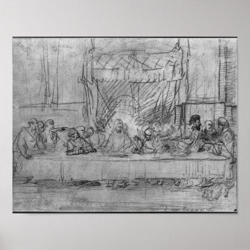 The Last Supper, after fresco by Leonardo da Print