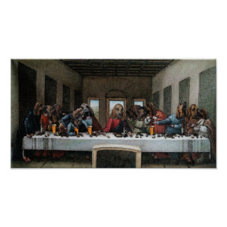 The Last Supper, Baying Hound Style Poster