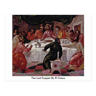 The Last Supper By El Greco Postcard