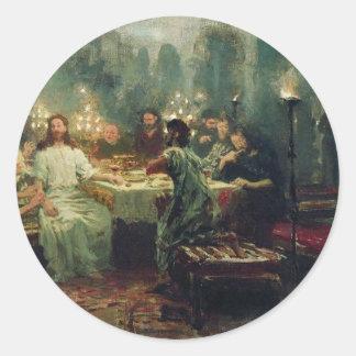 The Last Supper by Ilya Repin Classic Round Sticker