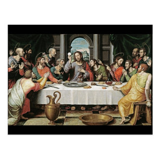 The Last Supper by Juan de Juanes Postcard