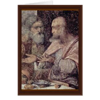 The Last Supper Detail By Leonardo Da Vinci (Best Card