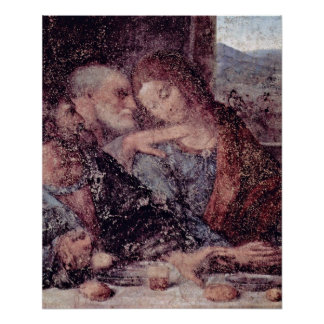 The Last Supper Detail by Leonardo da Vinci Poster
