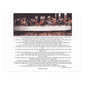 The Last Supper - Matthew 26:17-30 Postcard