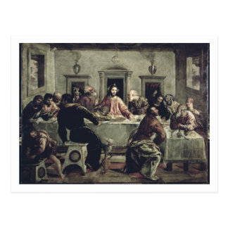 The Last Supper (oil on canvas) 2 Postcard