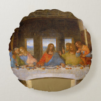 The Last Supper Round Pillow