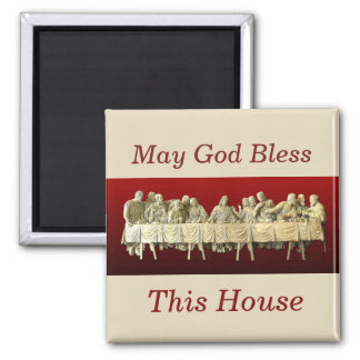 The Last Supper Square Magnet