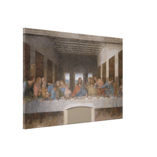 The Last Supper / Última Cena by Leonardo da Vinci Canvas Print