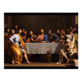The Last Supper with Disciples Postcard