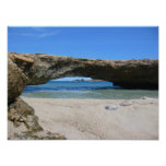 The Late Aruba Natural Bridge Poster