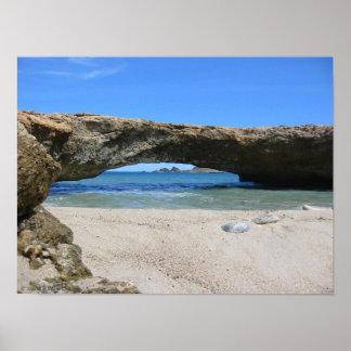 The Late Aruba Natural Bridge Poster