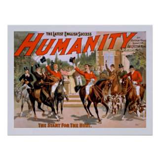 The Latest English Success Humanity Vintage Poster