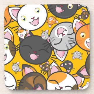 The laughing cats coaster