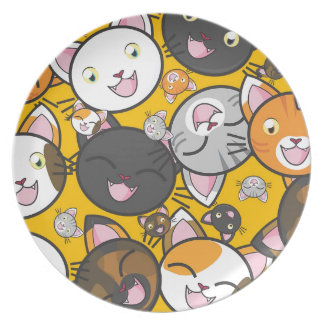 The laughing cats plate