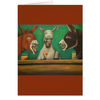The Laughing Donkeys Card