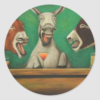 The Laughing Donkeys Classic Round Sticker