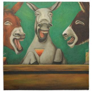 The Laughing Donkeys Cloth Napkin
