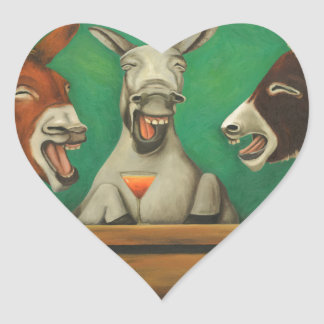 The Laughing Donkeys Heart Sticker
