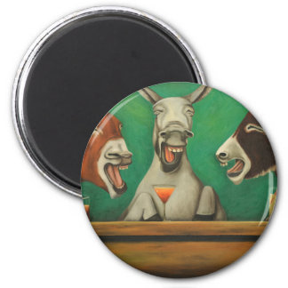 The Laughing Donkeys Magnet