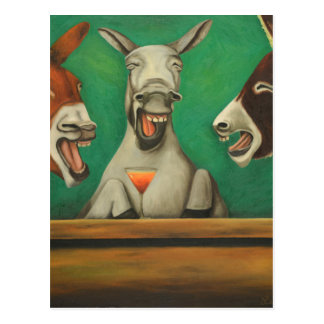 The Laughing Donkeys Postcard