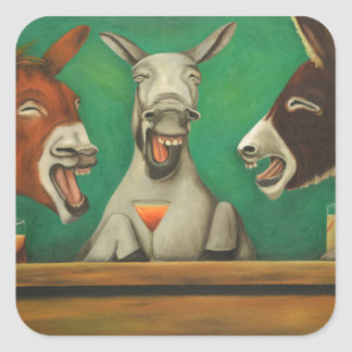 The Laughing Donkeys Square Sticker