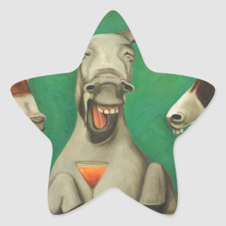The Laughing Donkeys Star Sticker