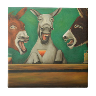 The Laughing Donkeys Tile