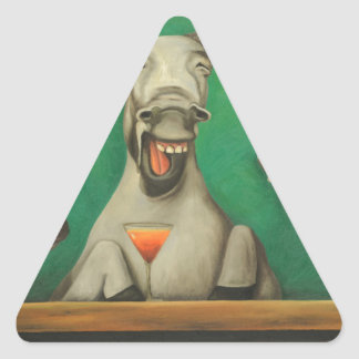 The Laughing Donkeys Triangle Sticker