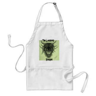 The Laughing Dragon Apron - Green