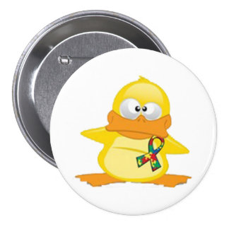 the laughing duck 3 inch round button