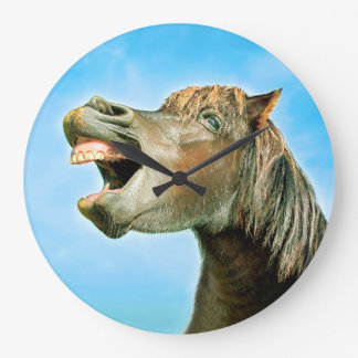 The laughing horse large clock