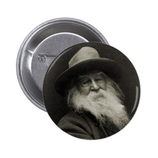 The Laughing Philosopher Poet Walt Whitman 2 Inch Round Button