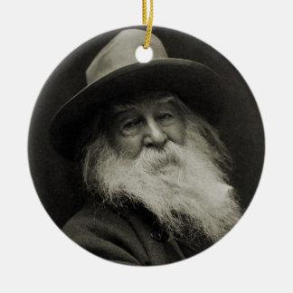 The Laughing Philosopher Poet Walt Whitman Ceramic Ornament