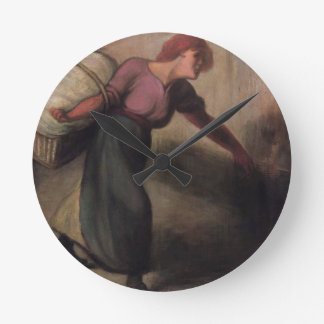 The Laundress, 1894 (oil on canvas) Wall Clocks