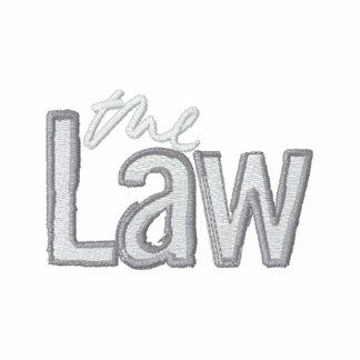 The Law - Embroidered - Ladies hoodie (black)