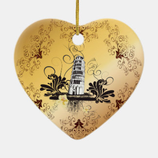The leaning tower of Pisa Ceramic Ornament
