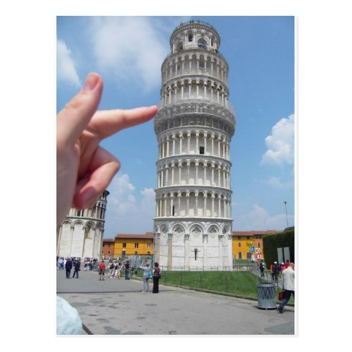 the leaning tower of Pisa Post Cards