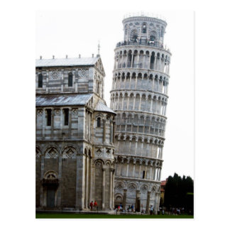 The Leaning tower of Pisa Post Card