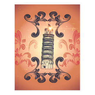 The leaning tower of Pisa Postcards