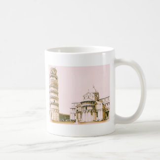 The Leaning Tower of Pisa, vintage, mug