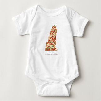 The Leaning Tower of Pizza Baby Bodysuit