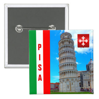 The Leaning Tower | Pisa, Italy 2 Inch Square Button