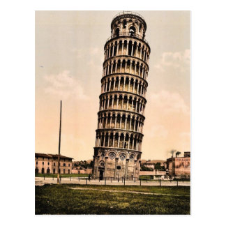 The Leaning Tower, Pisa, Italy classic Photochrom Postcard