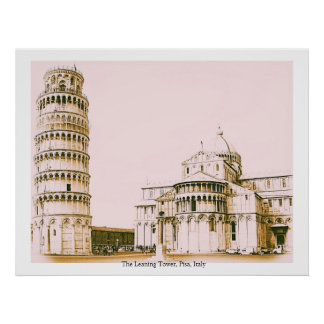 The Leaning Tower, Pisa, Italy Poster