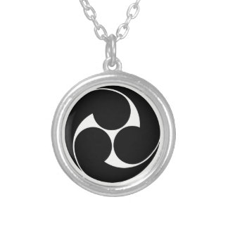 The left three-sided crest (area pulling out silver plated necklace